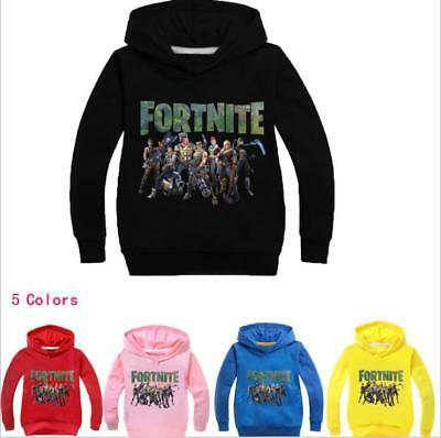 Fortnite Kids Hoodie Boys Girls Sweatshirt Jacket Sweater Clothing 2-11Years