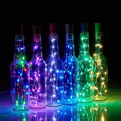 5x Copper Wire Wine Bottle Cork Battery Operated Fairy String Lights 1M 10LED AP