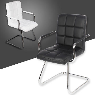 Client PU Leather Style Home Office Visitor Meeting Boardroom Chair Customer UK