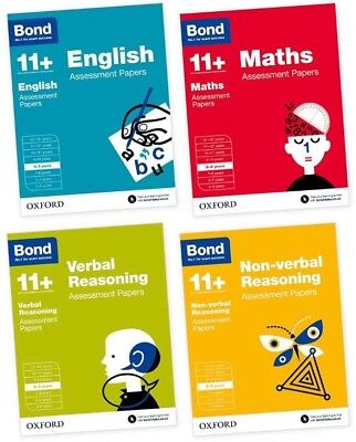 Bond 11+ Plus Assessment Papers 8-9 years 4 Book Bundle. Brand New And Sealed.