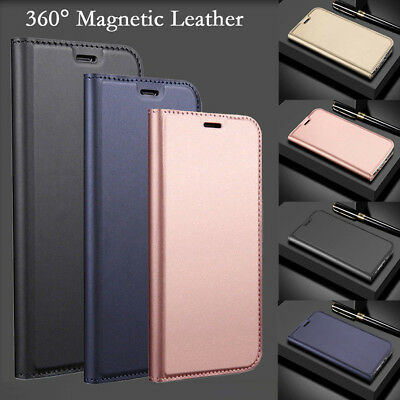 For Samsung Galaxy J3 J5 J7 2017 S8 S9 Luxury Leather Wallet Magnetic Case Cover