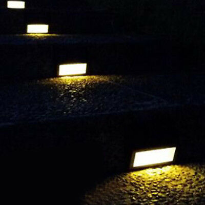 6 LED Solar Powered Outdoor Garden Yard Wall Fence Pathway Lamp Gutter Light