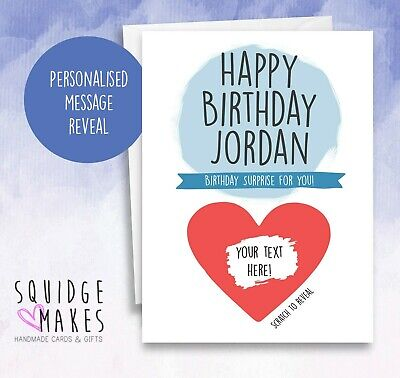 Surprise Personalised Boyfriend scratchcard Birthday Card Funny Husband Scratch