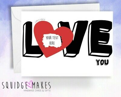 Surprise Reveal Scratchcard Personalised LOVE you valentines anniversary card