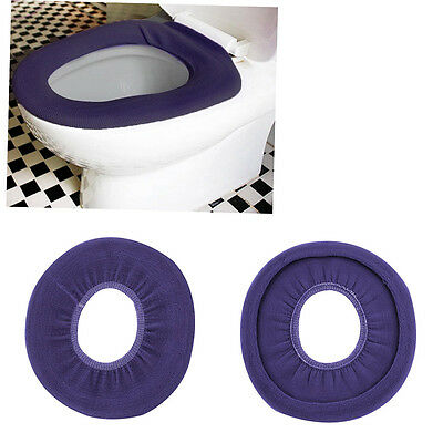 1pc Washable Cloth O-Shaped Warm Toilet Seat Cover Mat Pad For Bathroom GON@