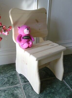 childs pine chair wooden seat time out chair