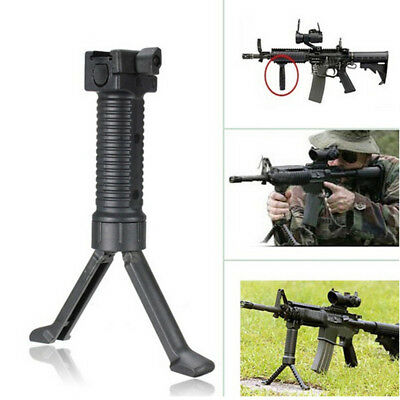 Tactical Rifle Bipod Hand Fore Grip Vertical Foregrip Picatinny Weaver 20mm USA