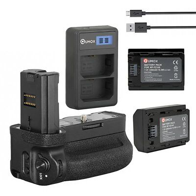 2x NP-FZ100 + LCD Charger Battery Grip VG-C3EM for A9 A7R3 A73 A7III A7RIII