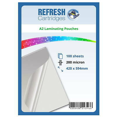 Laminating Pouches A2 200 Micron Pack of 100 Sheets