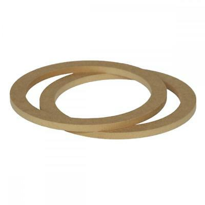 """6.5"""" 165mm Pair of MDF Speaker Spacer Mounting Rings 8mm Thick ID 144mm ED 177mm"""
