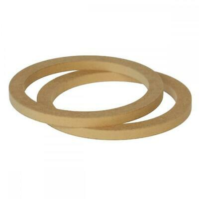 """6.5"""" 165mm Pair of MDF Speaker Spacer Mounting Rings 12mm Thick ID 144mm"""