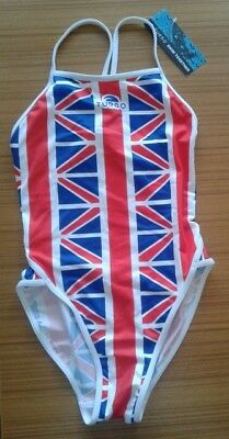 GB Great Britain Swimsuit Size Small by Turbo Swim Red White & Blue New NWT