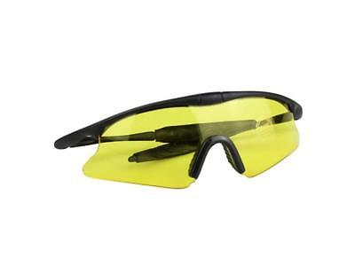 Airsoft Paintball Tactical Eye Protective Goggles High Visibility Safety-Yellow