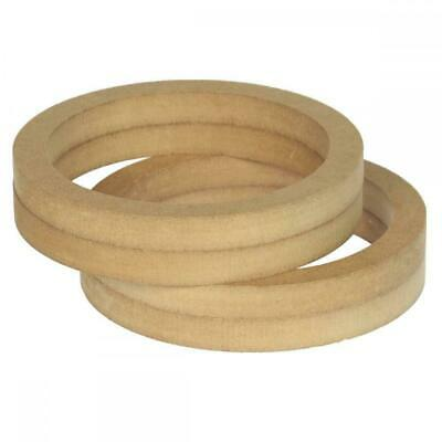 """6.5"""" 165mm Pair of MDF Speaker Spacer Mounting Rings 36mm Thick ID 144mm"""