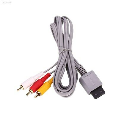 1.8m Audio Video AV 3 Composite Cable Connection Cord For Nintendo Wii U 181261A