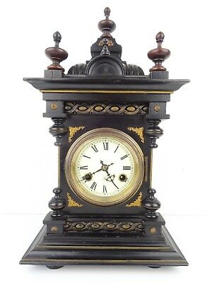JUNGHANS Antique German CASTLE Black Forest Mantel Shelf Mantle Clock 1920