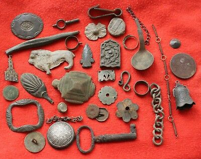 Set Of Antique Artifacts Metal Detecting Find