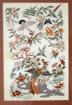 Chinese Theme Hand Embroidered Picture.