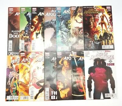Age of Apocalypse 1-14 Complete Set Run Marvel Comics w/ Signed Issues May 2012