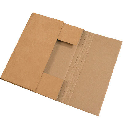 "Box Partners Easy-Fold Mailers 17.25"" x 11 1/4"" x 2"" Kraft 50/Bundle M17112BFK"
