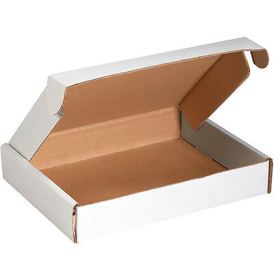 "Box Partners Deluxe Literature Mailers 11 1/8"" x 8 3/4"" x 2"" White 50/Bundle"