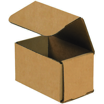 "Box Partners Corrugated Mailers 5"" x 3"" x 3"" Kraft 50/Bundle M533K"