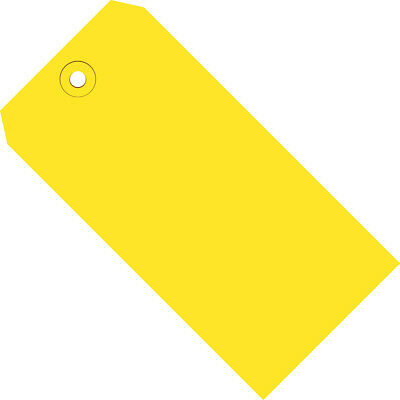 """Box Partners Shipping Tags 13 Pt. 5 1/4"""" x 2 5/8"""" Yellow 1000/Case G11061C"""