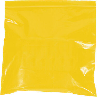 """Box Partners Reclosable 2 Mil Poly Bags 9"""" x 12"""" Yellow 1000/Case PB3645Y"""
