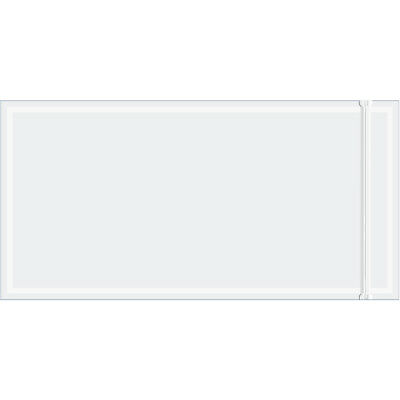 """Box Partners Packing List Envelope 5"""" x 10"""" Resealable Clear 1000/Case RCF510"""