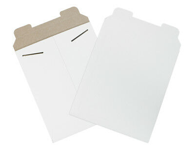 "Box Partners Flat Mailers 8-1/2"" x 10-1/2"" White 100/Case RM13W"