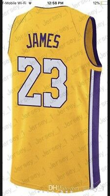 cheap for discount 81316 c440e LeBron James Los Angeles Lakers Stitched Jersey pre order