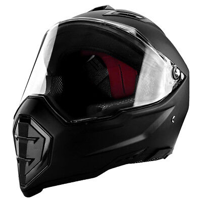Full Face Motorcycle Race Helmet - DOT Approved Matte Black Adult Helmet