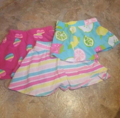 Cute Summer Printed Skirts skorts sz 2T The Children's Place