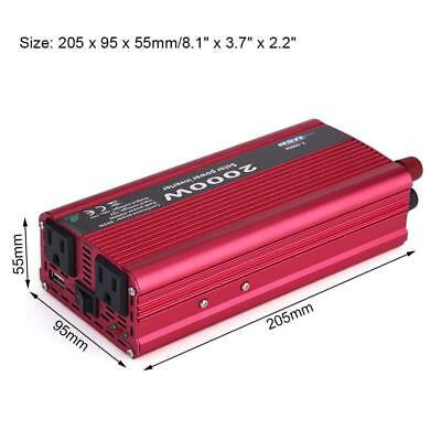 New 1500W Power Inverter DC 12V to AC 110V Car Inverter with 2.1A USB Charger
