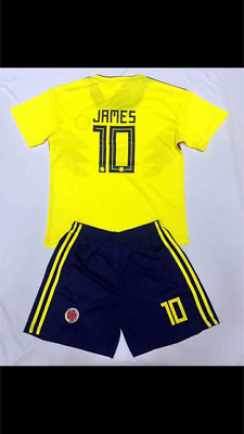 94d05e879 New World Cup 2018 James  10 Colombia Home Kids Jersey + Shorts Set Youth  Sizes