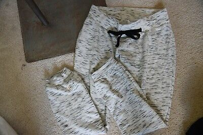 Motherhood Maternity Womens black and white jogger pants with pockets size small