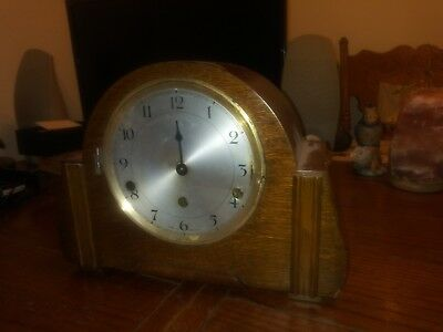 Vintage Perivale Mantle Clock Made in England -- As-is Parts or Repair