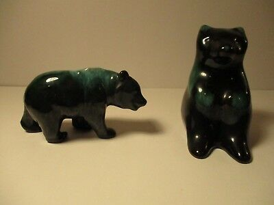 * 2 Blue Mountain Pottery Bear & Canuck Pottery  Figurines Canada