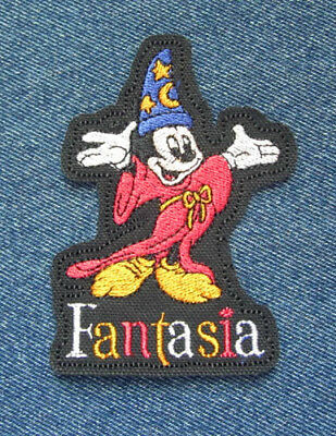 Vintage Disney Embroidered Patch Mickey Mouse FANTASIA II Sorcerer's Apprentice