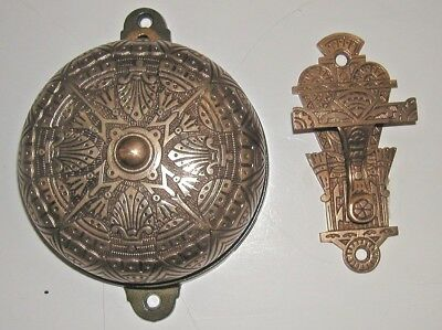 Brass Victorian Double Action Doorbell And Lever