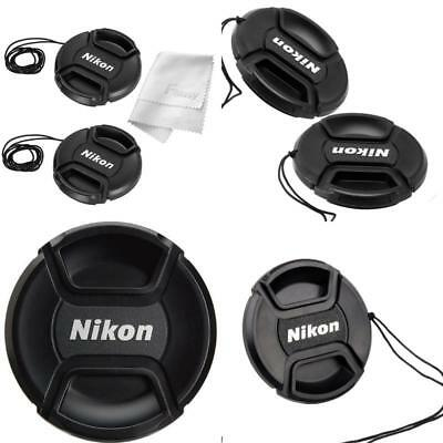 Center Pinch Lens Cap For Nikon Front Cover Snap Dslr Lenses Camera  55Mm 2Pack