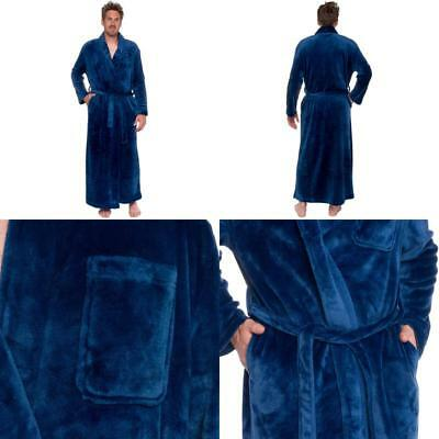 Mens Robe Big And Tall Lightweight Plush Long Robes Full Length Ross Michaels