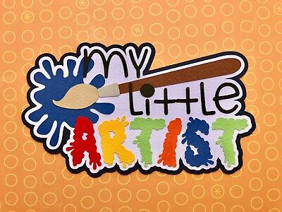 Fully assembled 'My Little Artist' scrapbook title