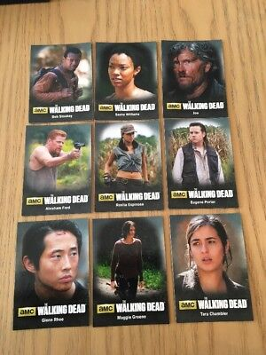 The Walking Dead Season 4 Part 2 - Complete 9 Card Character Set.