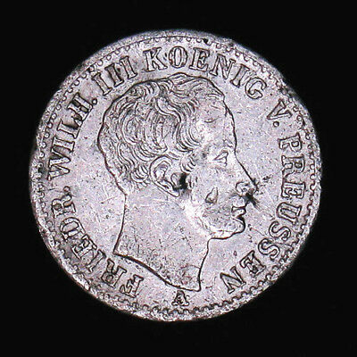 1823 German States Prussia 1/6 Thaler silver coin