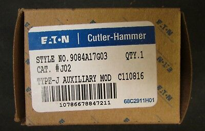 EATON CUTLER HAMMER J02 A200 2 NC Auxiliary Contact 9084A17G03