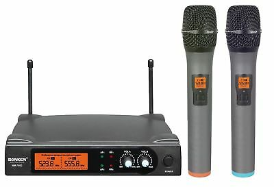 Sonken UHF Handheld Wireless Microphone System offers 2 X Mic & Free Carry Case