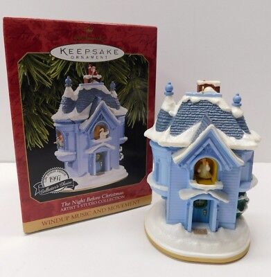 Hallmark Ornament 1997 The Night Before Christmas * Music * Movement * FREE SHIP