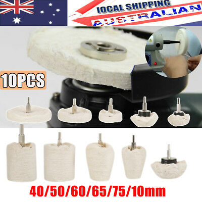 10pcs Buffing Pad Polishing Mop Wheel Pads Buffer Polish Wheels For Drill Kit AU