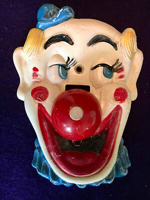 Vintage 1950's FLICKO CLOWN LIGHT SWITCH PLATE Cover Falcons Plastic Brothers